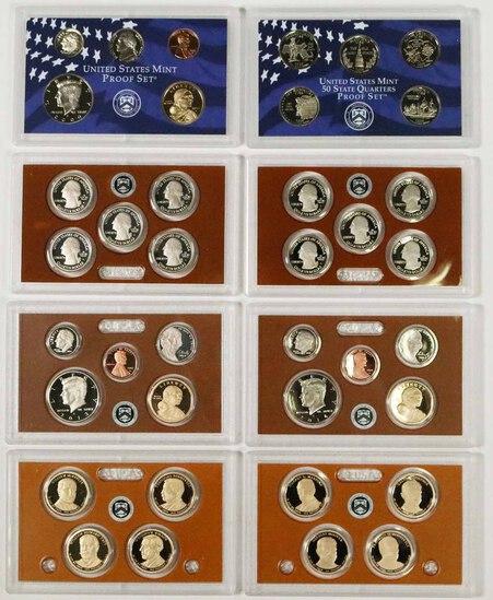 3 - US Mint Proof Sets; 2000,2013,2014