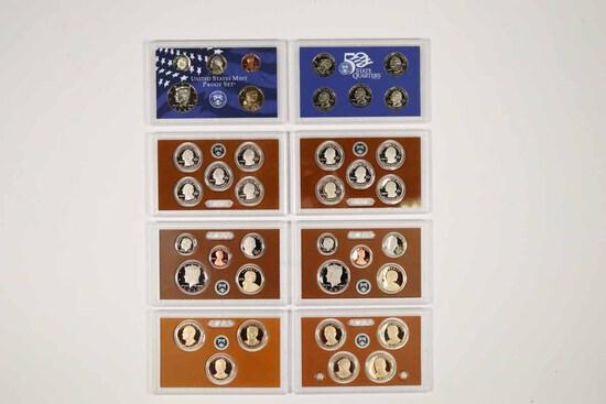 3 - US Mint Proof Sets; 2000,2015,2016