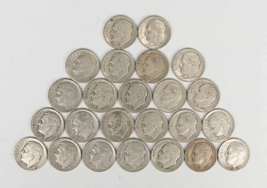 24 - 1948-S  Roosevelt Silver Dimes