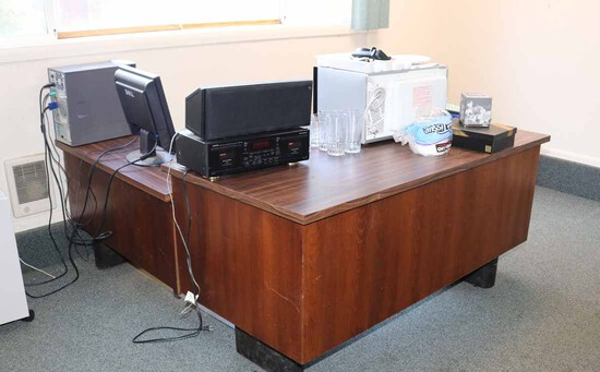 Office Desk w/ Side Return