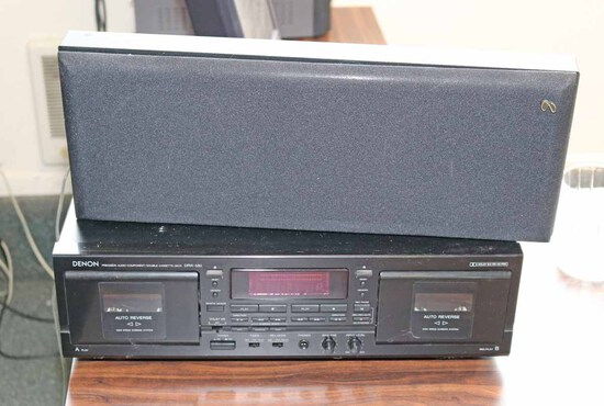 Denon Dual Cassette Player w/ Speaker