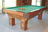 Pool Table - Traditional Style w/ Cues & Accessories