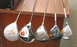 Assorted Left Handed Drivers, Fairway Woods: Taylor Made & More