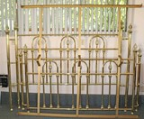 Brass Finished Bed - King Sized