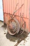 Old Iron Car Wheel, Plow, Triangle