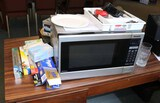 Assorted Household Items: Microwave, Flatware & More