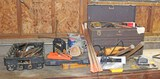 Bench Lot 2: Toolbox, Hammers, Tools & More