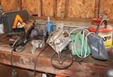 Bench Lot 3: Sander, Circular Saw, Air Wrench, Nailer & More