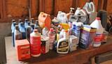 Assortment of Motor Oils,  Automotive, Fluids & Cleaners