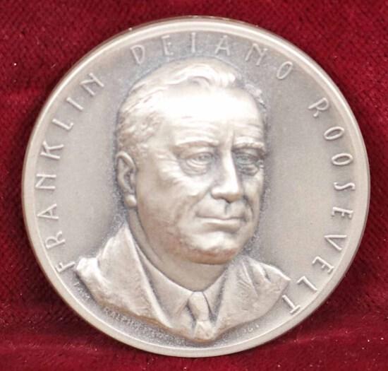 Silver FDR Presidential Medal,  23.7 Grams