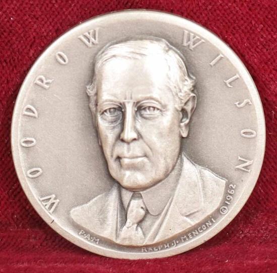 Silver Woodrow Wilson Presidential Medal,  25.3 Grams