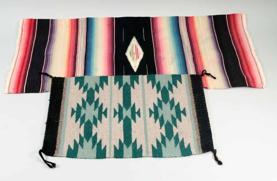 2 Small Southwest Style Rugs