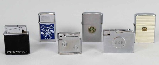 Assorted Lighters: Zippo, Crest Craft, Elgin America & More