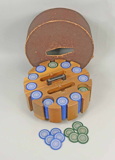 Poker Chips w/ Carry Case & Cover