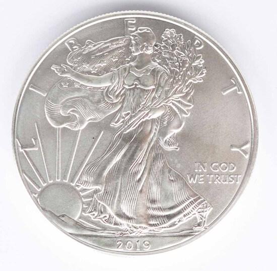 2019 Walking Liberty American Eagle Silver Dollar