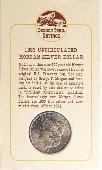 1883-O Morgan Silver Dollar (Oregon Trail Savings)