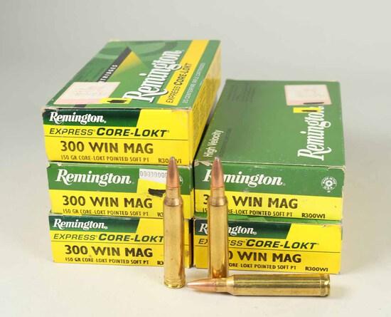 Remington 300 Win Mag, 150gr Ammo, 100 Rds.