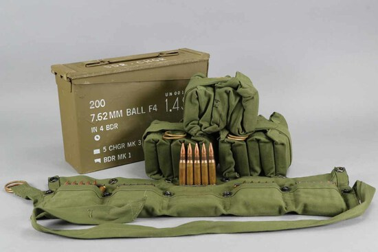 7.62 MM Ball F4 Ammo Pack, 200 Rounds in Can