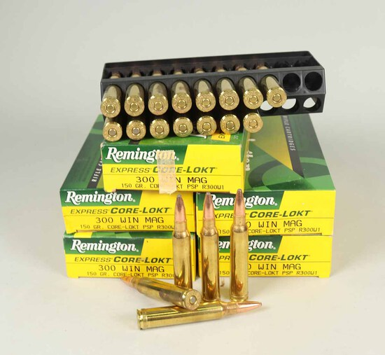 Remington 300 Win Mag, 150gr Ammo, 100 Rds.