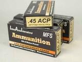 .45 ACP High Velocity 230 gr Ammo, 200 Rds