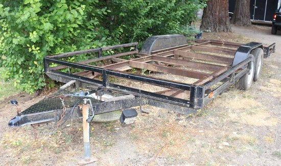 18' Flatbed Dual Axle Trailer