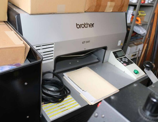 Brother GT-541 Commercial Garment Printer w/ Ink, Manuals, Repair Lines