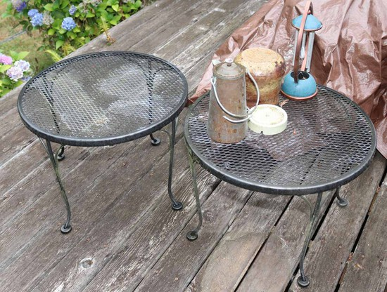 Heavy Iron Round Patio Side Tables