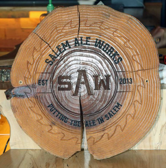 SAW Logo  Large Wood Round