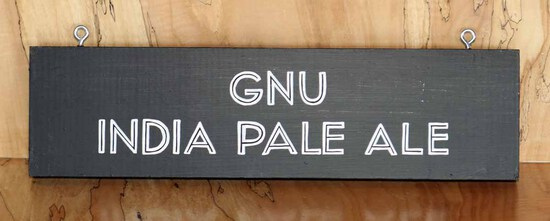 Gnu IPA - Portland Cider Sign Board