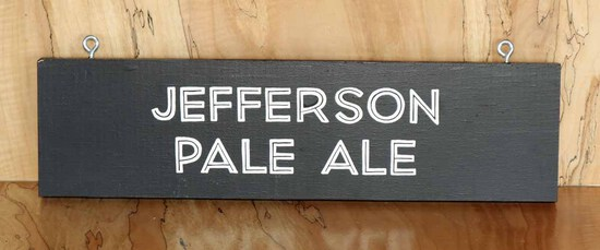 Jefferson Pale Ale Sign Board