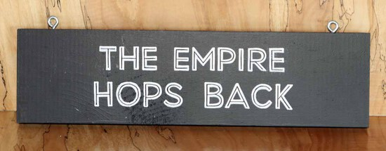 Empire Hops Back Sign Board