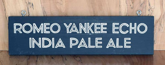 Romeo Yankee Echo Sign Board