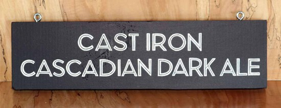 Cast Iron Sign Board