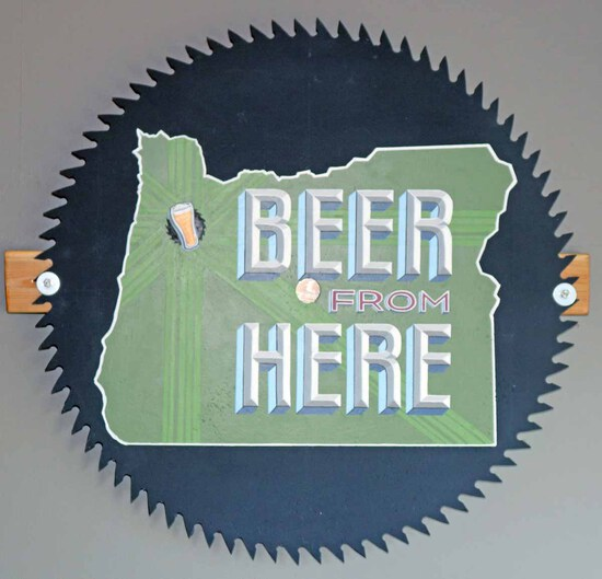"""Beer from Here"" Saw Blade"