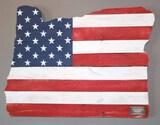 Wooden Oregon Flag - Charity Item