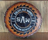 SAW Logo  Small Wood Round