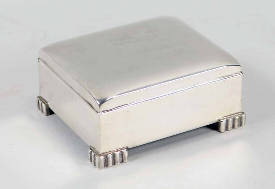 Small Sterling Silver Hinged Box, 239.9 Grams