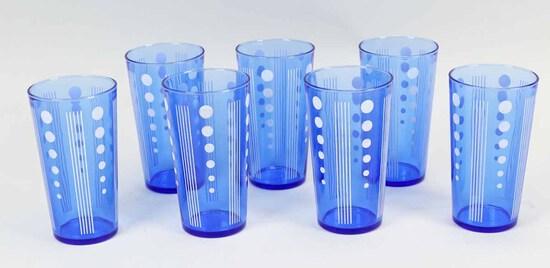 """Vintage Blue """"Dot"""" Glasses"""