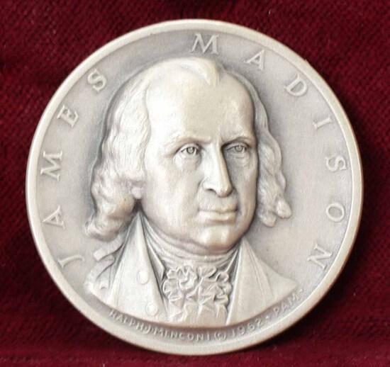James Madison Presidential Silver Medal, 24.3 Grams