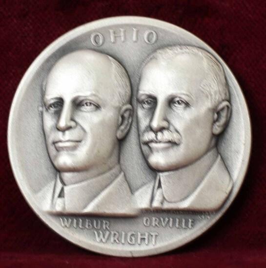 Ohio - Wright Bros.  Silver Medal, 27.1 Grams