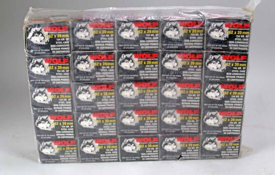 Wolf 7.62 x 39mm 154 Gr. SP Ammo, 500 Rds.