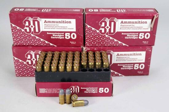 3-D .45 ACP REMFG .230 Gr. Lead Rn. Ammo, 250 Rds