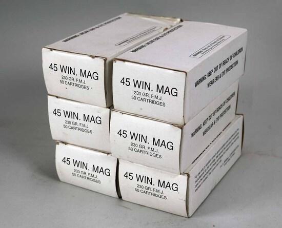 .45 Win. Mag. .230 Gr. F.M.J., 250 Rds.