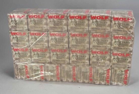 Wolf 7.62 x 39mm 124 Gr. FMJ Ammo, 500 Rds.