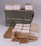 Vintage 7.62 Ball Ammo, 300 Rds. w/ Tin