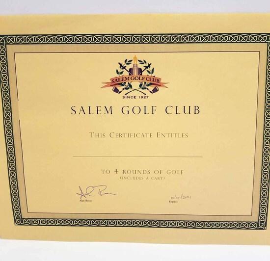 Salem Golf Course - 4 Rds. of Golf w/ Cart