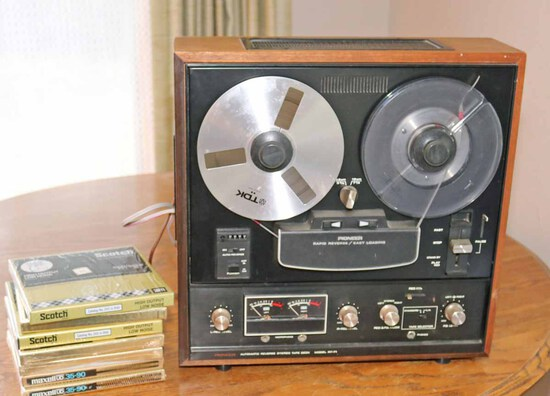 Pioneer RT-71 Reel To Reel Stereo Tape Deck & Blank Tapes