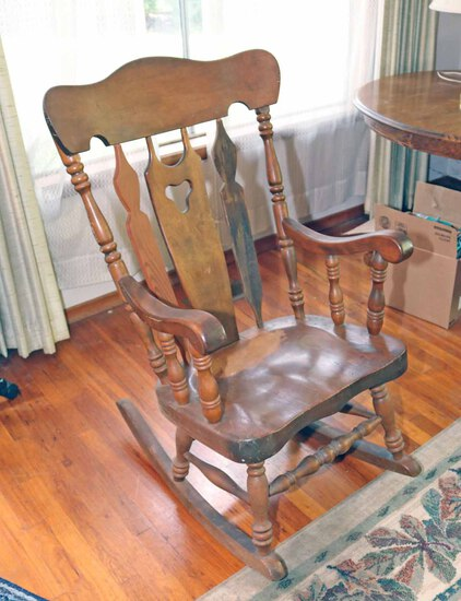 Large Wood Rocking Chair