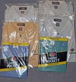 4 Collared Sport Shirts, 2 Pocket T Shirts, Sz. L
