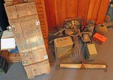 Assorted Misc.: Telephone, Smudge Pot, Blow Torch, Ammo Crate & More